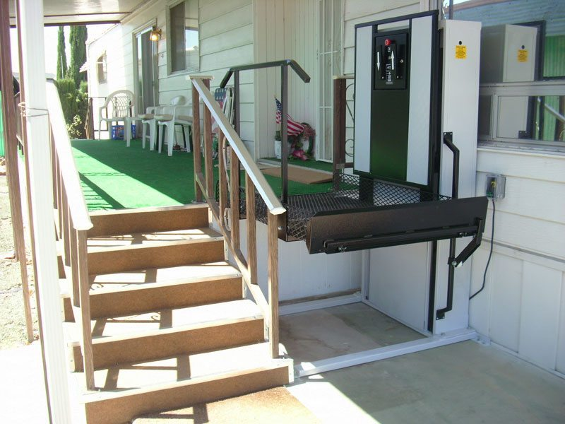 installed wheelchair porch lift