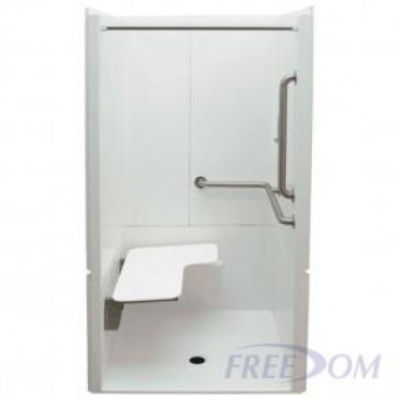 40 x 39 inches Freedom ADA Transfer Shower, Right Valve