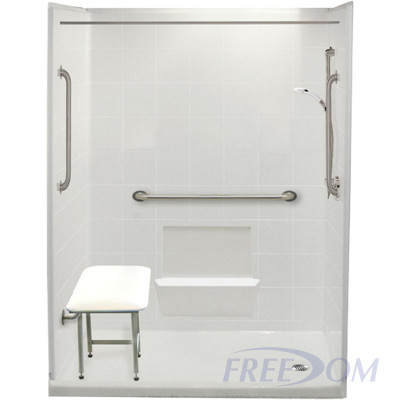 """60"""" x 31"""" Freedom Easy Step Shower, RIGHT Drain"""