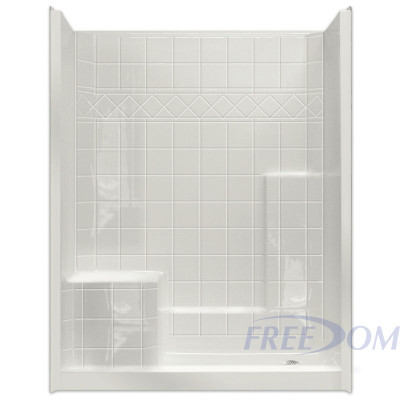 """60"""" x 33"""" Freedom Easy Step Shower, LEFT Seat"""