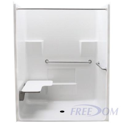"63"" x 34"" Freedom ADA Roll In Shower, LEFT"
