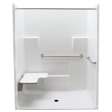 63 x 34 inches Freedom ADA Roll In Shower, LEFT Seat
