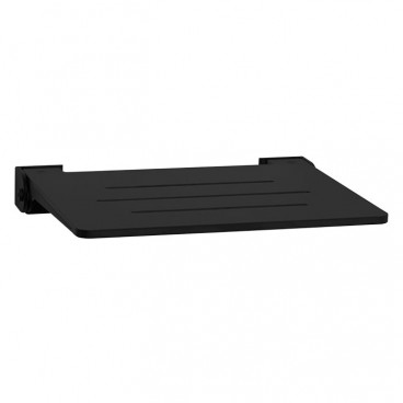 wall mounted folding shower seat black slotted seat with black slim frame 19 x 15 inches