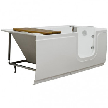step in tub with door angle view