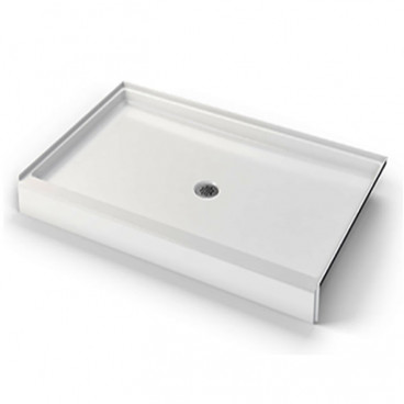 38 X 38 inch ANSI Type B shower pan, white, 4 inch threshold, for FHA Fair Housing install