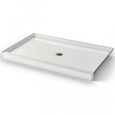 50 X 38 inch ANSI B shower BASE,  white, 4 inch threshold, for HUD FHA projects