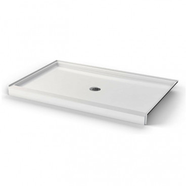 60 X 38 inch ANSI Type B shower pan,  white, 4 inch threshold, for HUD FHA projects