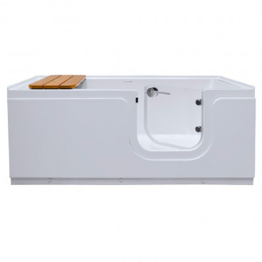 heated step in tub with right door