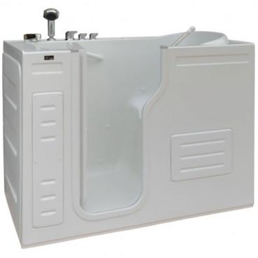walk in tub with air jets swing in door left drain
