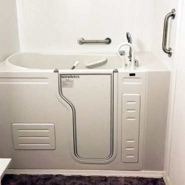walk in bathtub installed