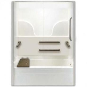 ADA bathtub for remodeling right drain