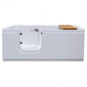 step in soaker tub with door left drain
