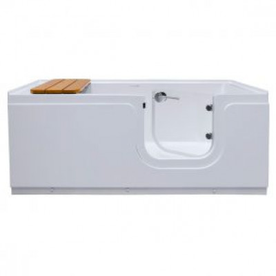 """Step in Tub with door, 59"""" x 30.5"""" x 25"""", Right drain"""