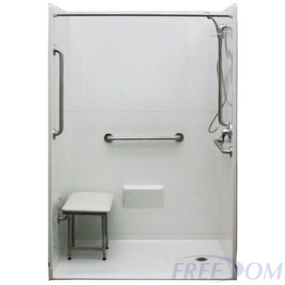 """54"""" x 31"""" Freedom Accessible Shower, Right Drain"""