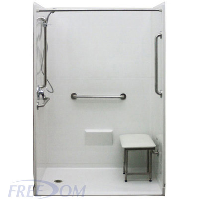 """54"""" x 31"""" Freedom Accessible Shower, Left Drain"""