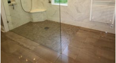 barrier free tile shower floor