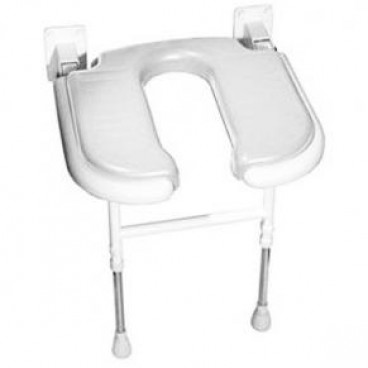 U Shaped folding shower seat Gray Pad