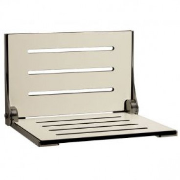 High Back Decorator Shower Seat Phenolic Almond