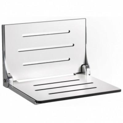 "18¾"" x 15½"" High Back Decorator Shower Seat, Phenolic WHITE"