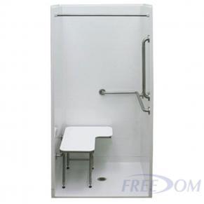 "38 5/8"" x 38 7/16"" Freedom ADA Transfer Shower"