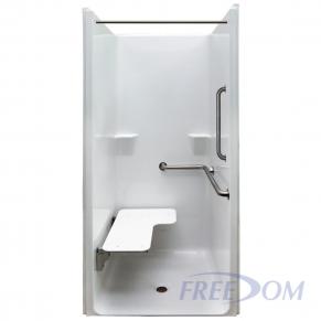 "39"" x 37½"" Freedom ADA Transfer Shower, Right"
