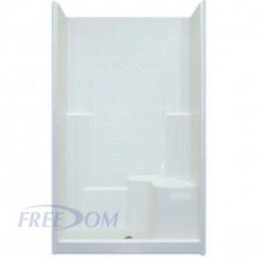 freedom easy step shower with molded seat, 48 x 37 inches