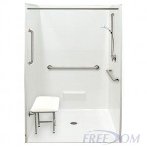 """50½"""" x 50⅛"""" Freedom Accessible Shower"""