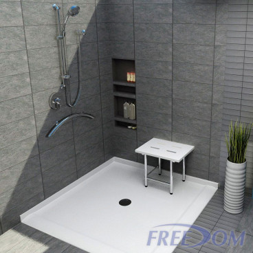 "50"" x 50"" Freedom Accessible Corner Shower Pan"