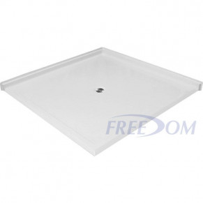 """50"""" x 50"""" Freedom Accessible Corner Shower Pan"""