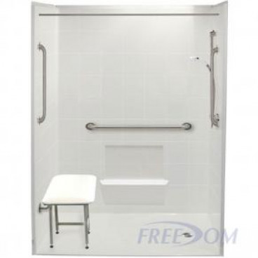 60 x 31 inches Freedom Accessible Shower, Right Drain