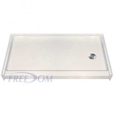 60 x 31 Freedom Easy Step Premier Shower Pan RIGHT Drain