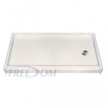 "60"" x 33⅜"" Freedom Easy Step Shower Pan, RIGHT Drain"