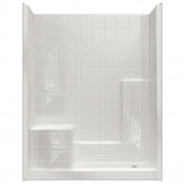 easy step shower with molded left seat one piece