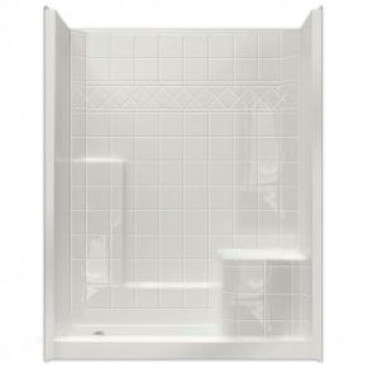 60 inch x 36 inch Easy Step Shower Right seat