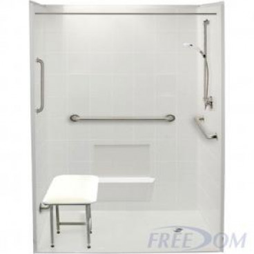 60 x 37 inches Freedom Accessible Shower, Right Drain