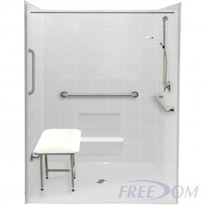 """60"""" x 61"""" Freedom Accessible Shower"""