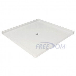 """61"""" x 61"""" Freedom Accessible Corner Shower Pan"""