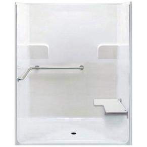 """62"""" x 39½"""" ADA Roll In Shower, RIGHT Seat"""