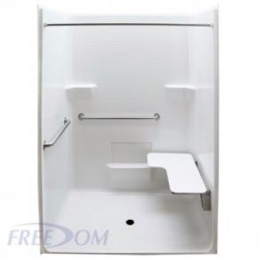Freedom ADA Roll In Shower, Right Seat, 1 Piece, 63 x 38.5