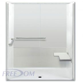 "64"" x 35"" Freedom ADA Roll In Shower, RIGHT"