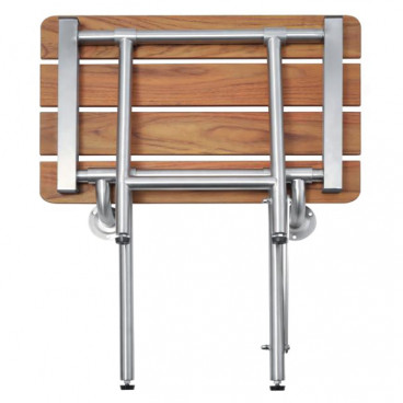 wood shower bench