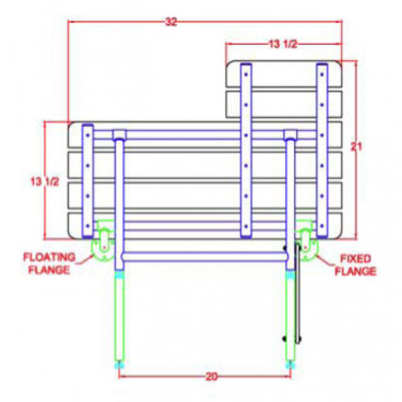 shower bench drawing bench drawingseat handing diagram