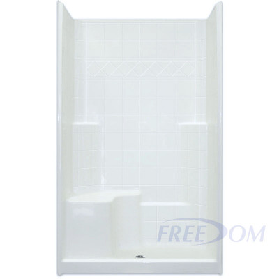 """48"""" x 37"""" Freedom Easy Step Shower, LEFT Seat"""