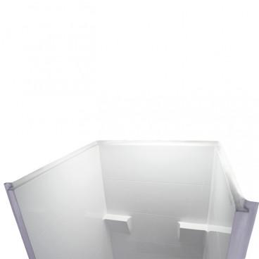 ANSI b shower stall top view