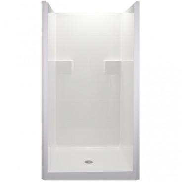 38.5 X 37 inch ANSI Type B shower stall, white, 4 inch threshold, for FHA Fair Housing install