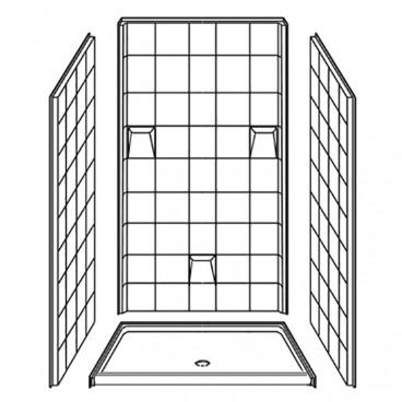 4 piece shower stall