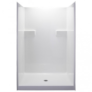 50 X 38 inch ANSI Type B shower,  white, 4 inch threshold, for HUD FHA projects