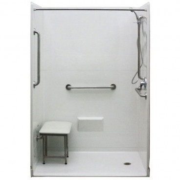 54 x 31 inches Freedom Accessible Shower Package, Right Drain
