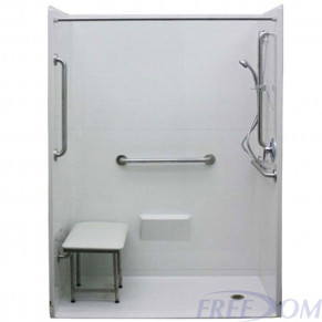 """54"""" x 36⅞"""" Freedom Accessible Shower, Right Drain"""