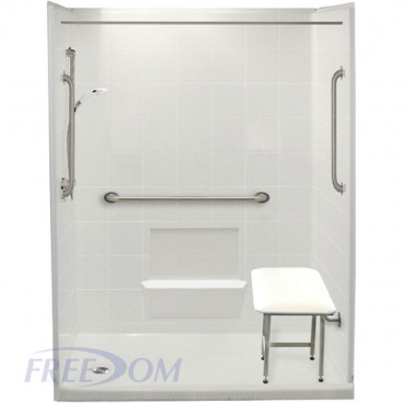 "60"" x 31"" Freedom Easy Step Shower Package, Left Drain"